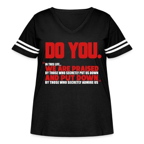 Do You - Women's Curvy Vintage Sport T-Shirt
