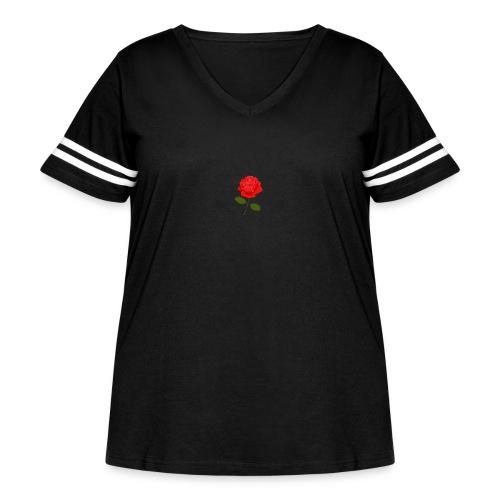 Rose Shirt - Women's Curvy Vintage Sport T-Shirt