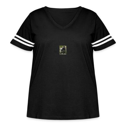 flx out louiz - Women's Curvy Vintage Sport T-Shirt