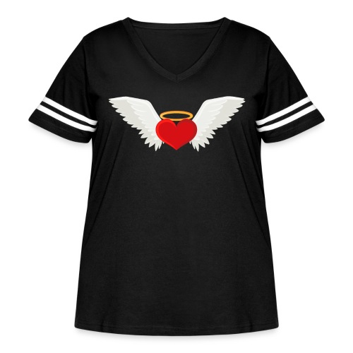 Winged heart - Angel wings - Guardian Angel - Women's Curvy Vintage Sport T-Shirt