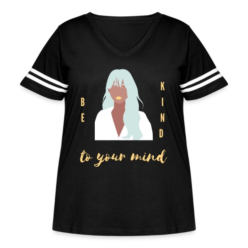 Be kind Short Sleeves T-Shirt - Women's Curvy Vintage Sports T-Shirt