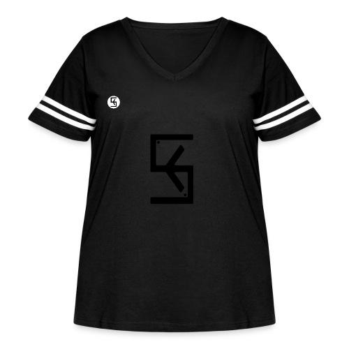 Soft Kore Logo Black - Women's Curvy Vintage Sport T-Shirt