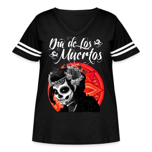 Dia de Los Muertos 01 - Women's Curvy Vintage Sport T-Shirt
