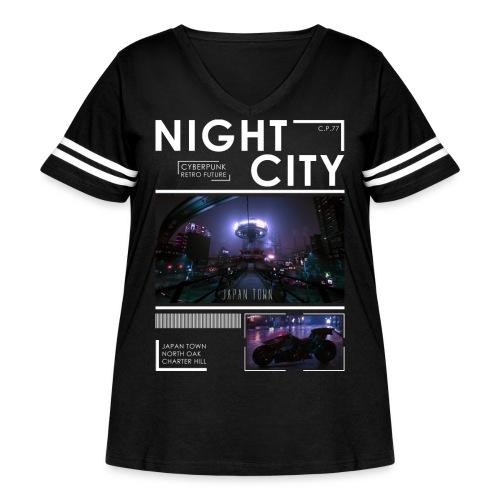 Night City Japan Town - Women's Curvy Vintage Sport T-Shirt