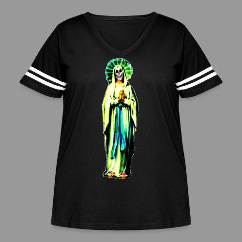 Cult Of Santa Muerte - Women's Curvy Vintage Sport T-Shirt
