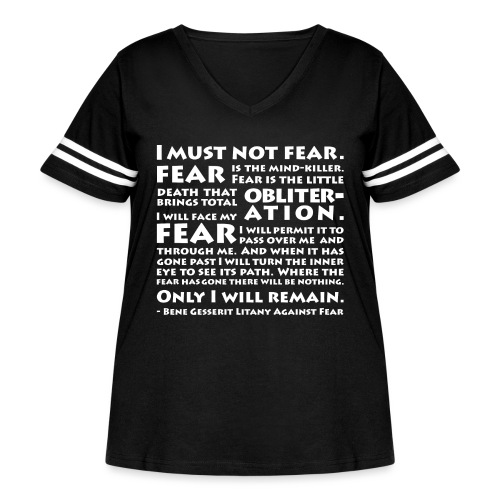 Litany Against Fear - Women's Curvy Vintage Sport T-Shirt