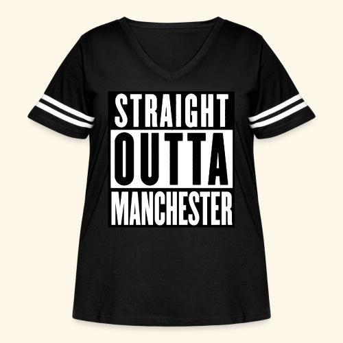 STRAIGHT OUTTA MANCHESTER - Women's Curvy Vintage Sport T-Shirt