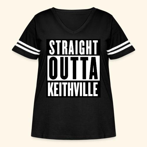 STRAIGHT OUTTA KEITHVILLE - Women's Curvy Vintage Sport T-Shirt