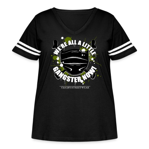 Covid Gangster - Women's Curvy Vintage Sport T-Shirt