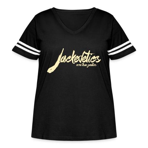Jackedetics Tag - Women's Curvy Vintage Sport T-Shirt
