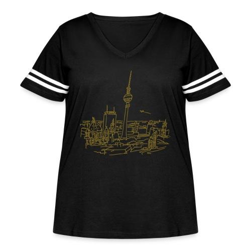 Panorama of Berlin - Women's Curvy Vintage Sports T-Shirt
