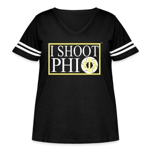 i shoot phi camera - Women's Curvy Vintage Sport T-Shirt