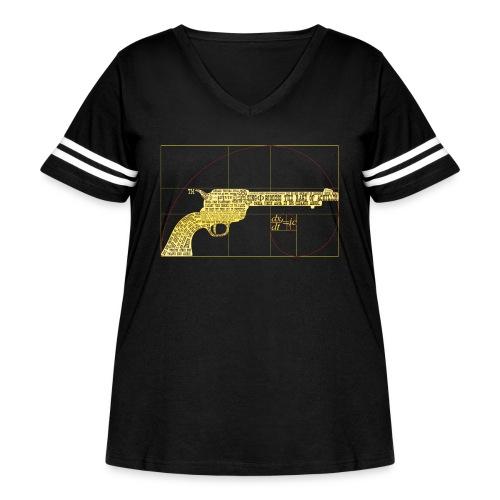 Golden Ratio Gold 45 Revolver LTD Theory - Women's Curvy Vintage Sport T-Shirt