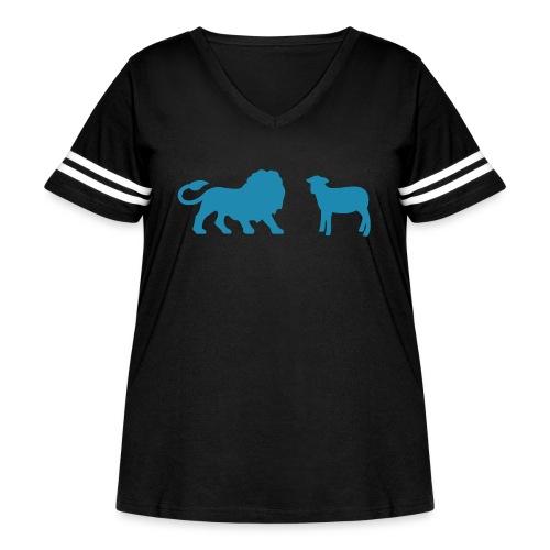 Lion and the Lamb - Women's Curvy Vintage Sport T-Shirt
