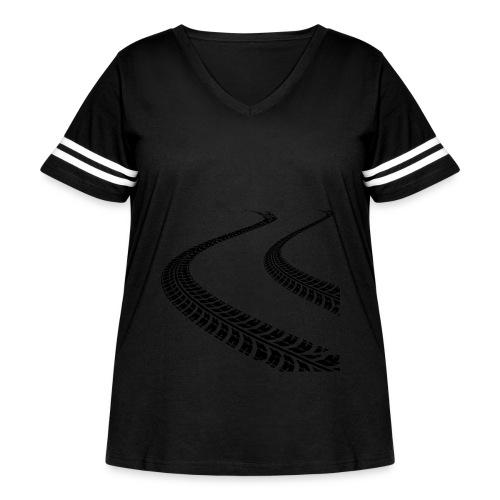 Cone Killer Women's T-Shirts - Women's Curvy Vintage Sport T-Shirt
