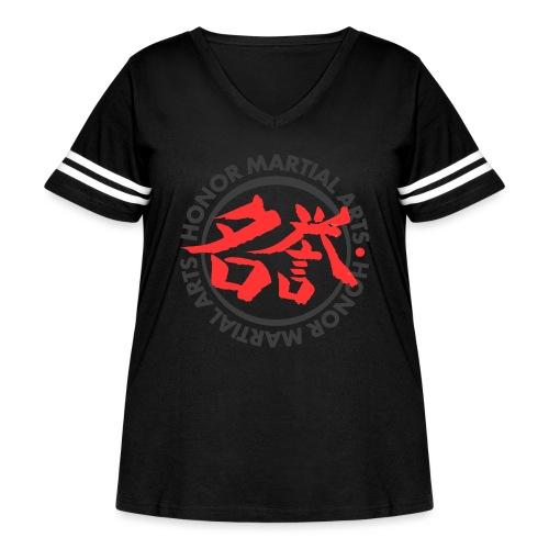 Honor Martial Arts - Women's Curvy Vintage Sport T-Shirt