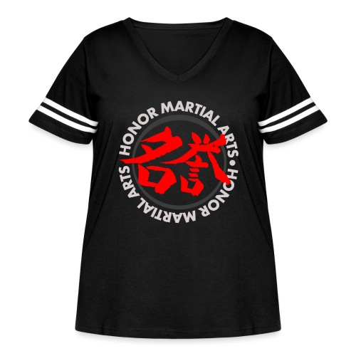 Honor Martial Arts Kanji Design Light Shirts - Women's Curvy Vintage Sport T-Shirt