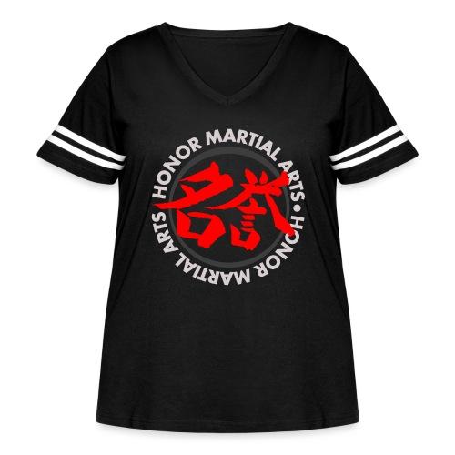 Honor Martial Arts Kanji Design Light Shirts - Women's Curvy Vintage Sport T-Shirt