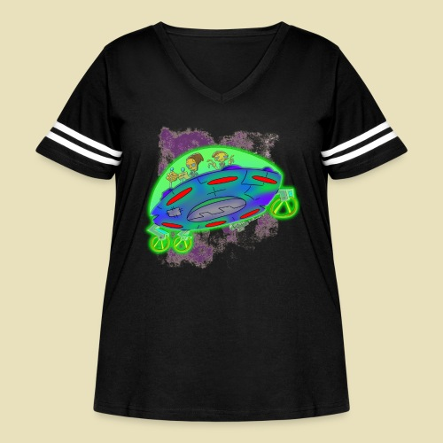 Ongher's UFO Flying Saucer - Women's Curvy Vintage Sport T-Shirt