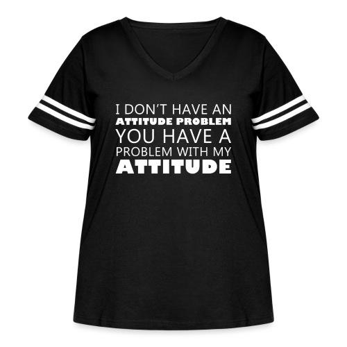 attitude - Women's Curvy Vintage Sports T-Shirt