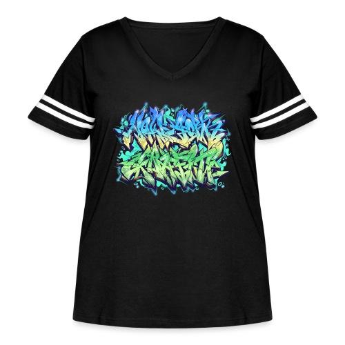 Themeaseven - NYG Design - Women's Curvy Vintage Sport T-Shirt