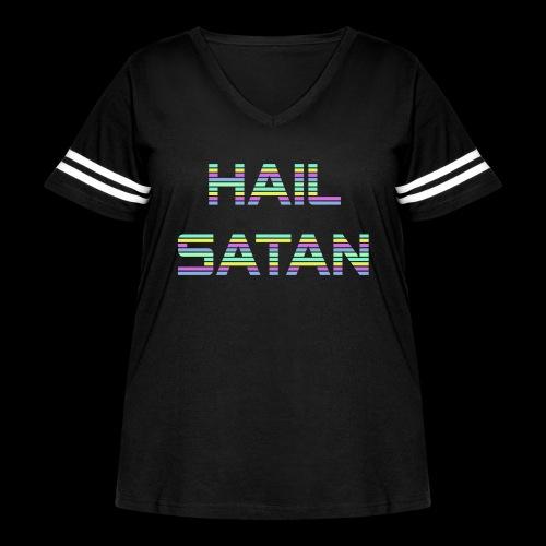 Hail Satan - Vaporwave - Women's Curvy Vintage Sports T-Shirt