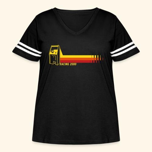 Racing2000 - Women's Curvy Vintage Sport T-Shirt