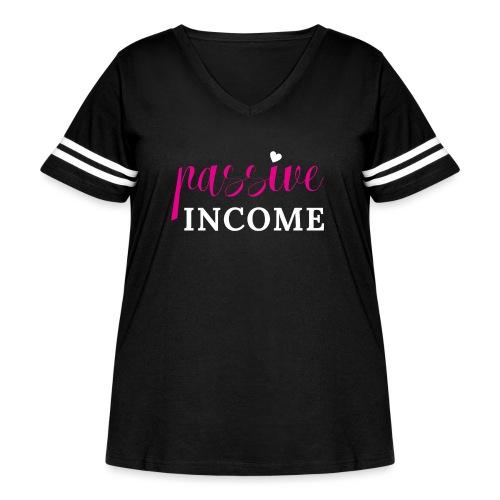 Passive Income - Women's Curvy Vintage Sport T-Shirt