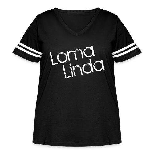 lomalinda white - Women's Curvy Vintage Sport T-Shirt