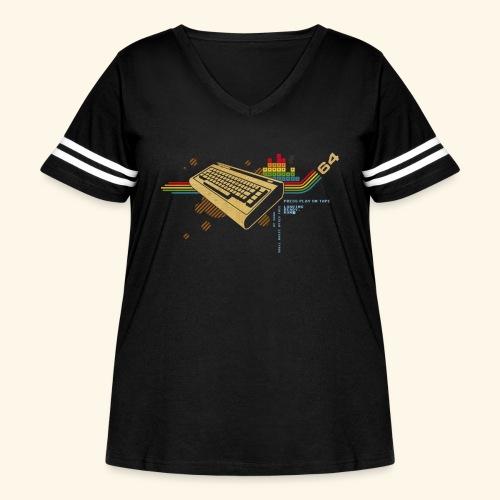 collage64 - Women's Curvy Vintage Sport T-Shirt