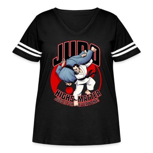 Judo Highs Matter - Women's Curvy Vintage Sport T-Shirt