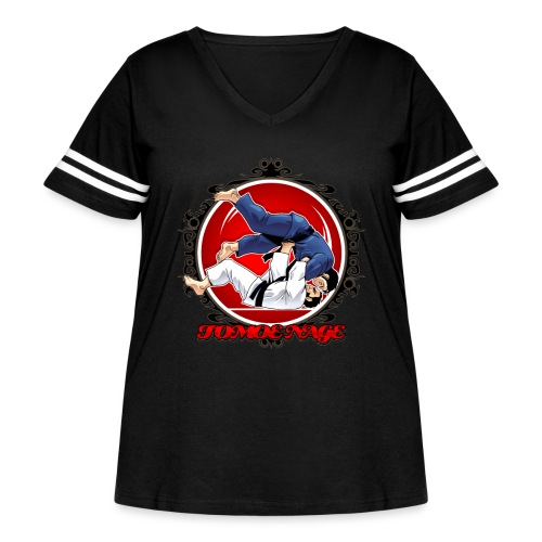 Judo Throw Tomoe Nage - Women's Curvy Vintage Sport T-Shirt