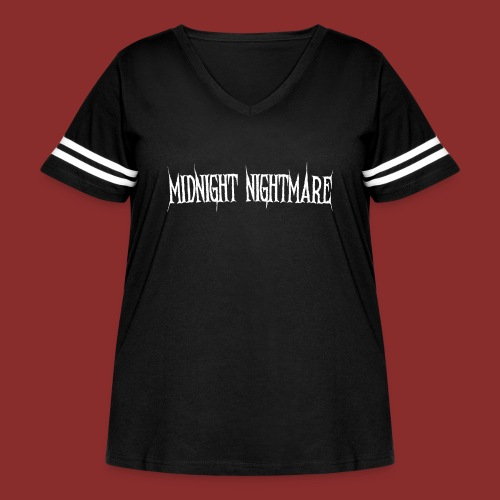 Midnight Nightmare Logo-w - Women's Curvy Vintage Sport T-Shirt
