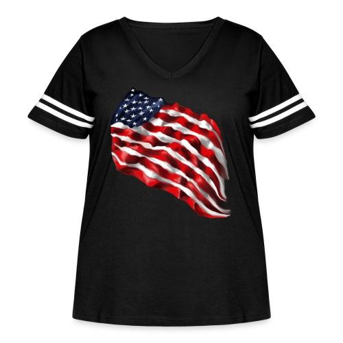 Bold Flag - Women's Curvy Vintage Sport T-Shirt