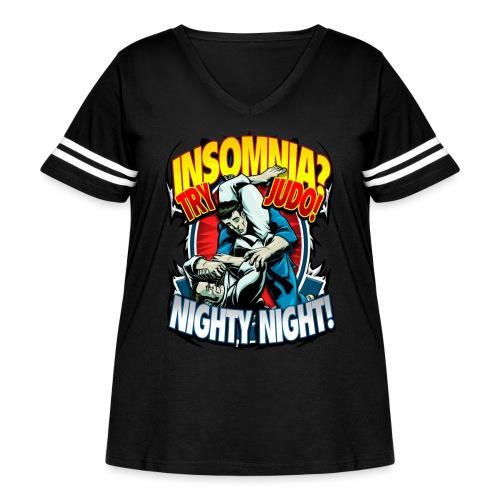 Insomnia Judo Design - Women's Curvy Vintage Sport T-Shirt