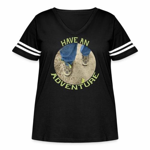 Have an Adventure - Women's Curvy Vintage Sport T-Shirt