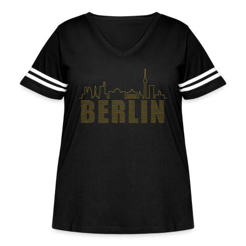 Skyline of Berlin - Women's Curvy Vintage Sport T-Shirt