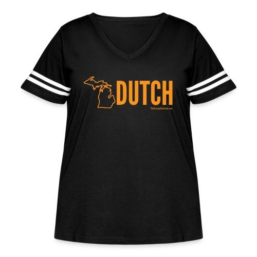 Michigan Dutch (orange) - Women's Curvy Vintage Sport T-Shirt