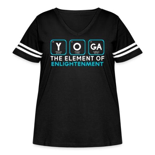 Yoga the Element of Enlightenment - Women's Curvy Vintage Sports T-Shirt