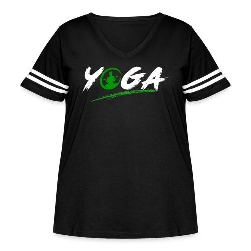 Yoga - Women's Curvy Vintage Sports T-Shirt
