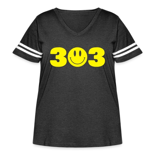 3 Smiley 3 - Women's Curvy Vintage Sport T-Shirt