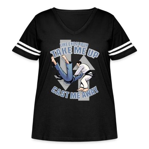 Like Excalibur - Women's Curvy Vintage Sport T-Shirt