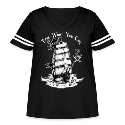 2ton Pyrates - Women's Curvy Vintage Sport T-Shirt