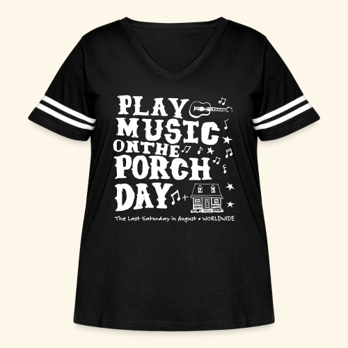 PLAY MUSIC ON THE PORCH DAY - Women's Curvy Vintage Sport T-Shirt