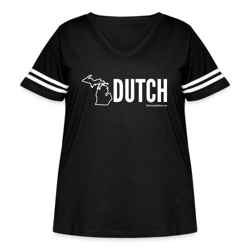 Michigan Dutch (white) - Women's Curvy Vintage Sport T-Shirt