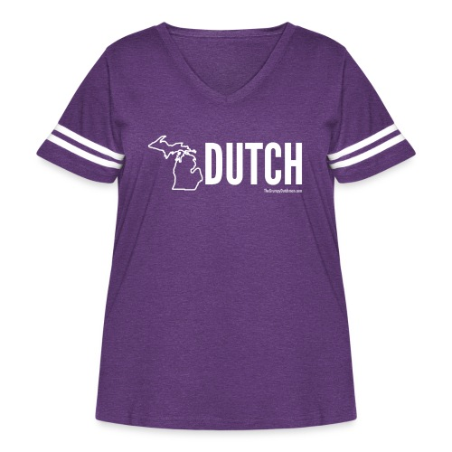 Michigan Dutch (white) - Women's Curvy Vintage Sport T-Shirt