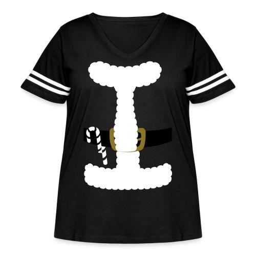 SANTA CLAUS SUIT - Men's Polo Shirt - Women's Curvy Vintage Sport T-Shirt
