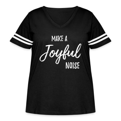 joyfulnoise2 - Women's Curvy Vintage Sport T-Shirt