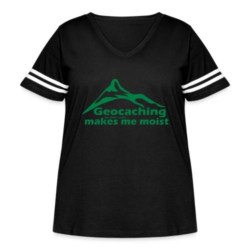 Geocaching in the Rain - Women's Curvy Vintage Sport T-Shirt