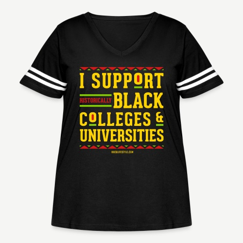 I Support HBCUs - Women's Curvy Vintage Sport T-Shirt